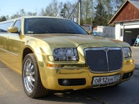 Лимузин Chrysler 300C Золотой 10 мест