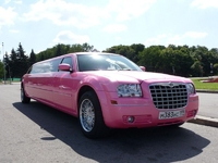 Лимузин Chrysler 300C Розовый 10 мест